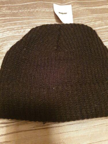 UO Accessories Plain Black Soft Beanie Hat  Unisex NWT
