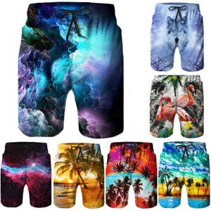 Hot-Mens-Quick-Dry-Boardshorts-Beach-Short-Casual-3D-Print-Sport-Trunk-Pants