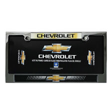 New CHEVY Bowtie Elite Heavy Duty Chrome Metal Car Truck Suv License Plate Frame