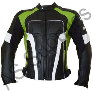 ninja nexus veste de moto en cuir blouson motard parfait pour kawasaki moto ebay. Black Bedroom Furniture Sets. Home Design Ideas