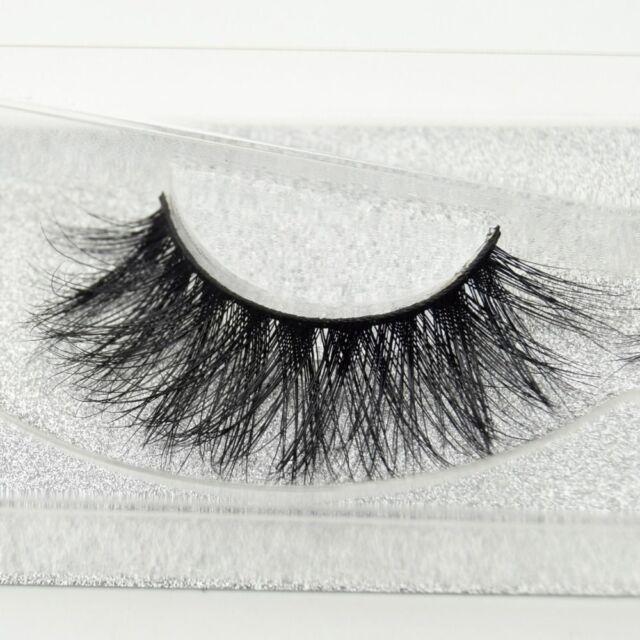 fd895ead7ed Natural Cross Long 100% Real 3D Mink Fur Eye Lashes Extension False  Eyelashes BT