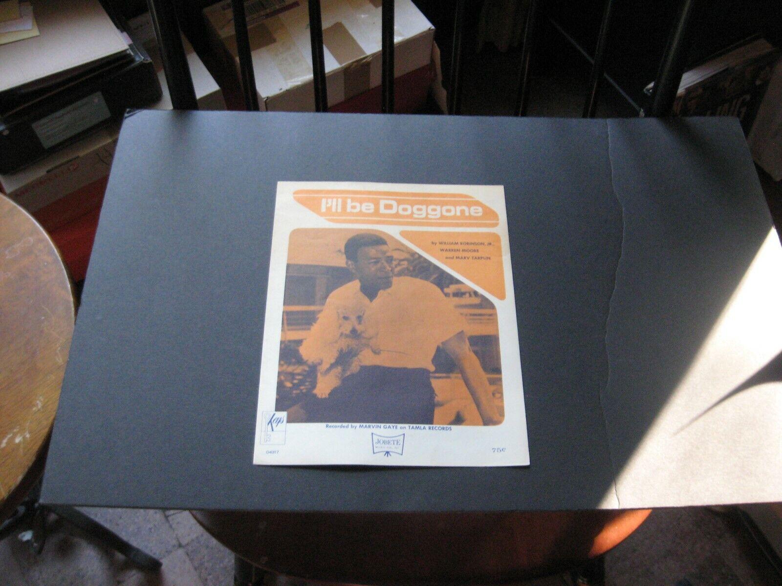 Rare, vintage Marvin Gaye I'll Be Doggone 1965 US sheet music - VG+