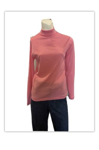 Vintage 1960s Mock Turtleneck Nylon Bubblegum pink