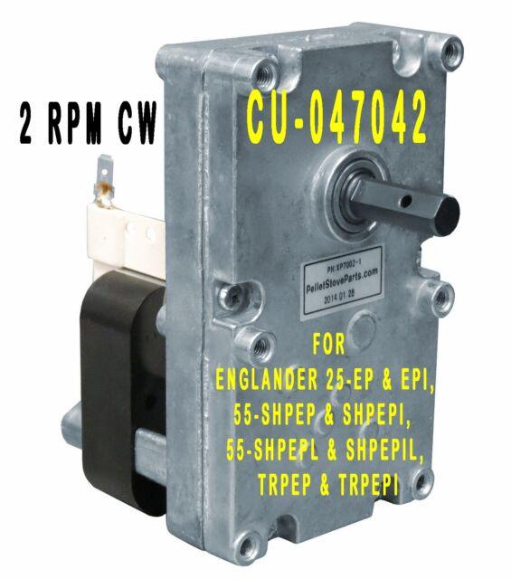 VERY QUIET CU047042 i CU-047042  NEW 2 .4 RPM ENGLANDER  STOVE AUGER MOTOR