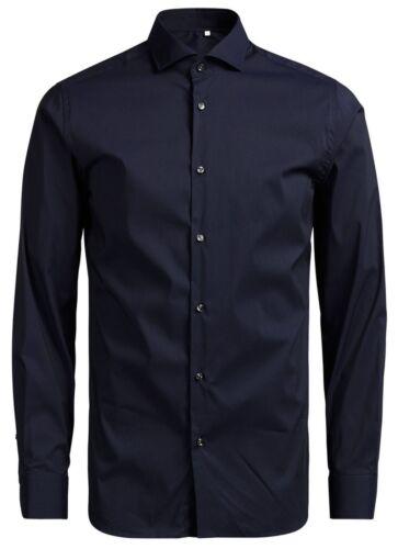 JACK /& Jones Premium Camicia a Maniche Lunghe da Uomo Slim Fit Camicie A TINTA UNITA SMART Business