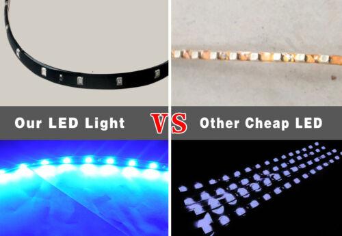 10PCS 1Ft//15 LED Waterproof Car Boat ATV Trailer Flexible Strip Light Bar 12V US