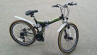 Folding Mountain Bike 26 Disc Brakes 21 Speed Shimano Foldable Bike