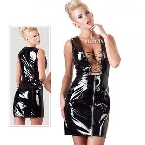 """Lack Kleid mit Zip am Rockteil Abendkleid Disco Swinger S M L XL XXL """"Ruth"""""""