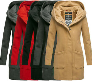 Details zu Marikoo Damen Business Mantel Trenchcoat winterJacke übergangsjacke wintermantel