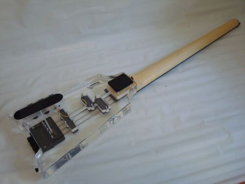 Headless Brand New Pro 4 String Clear Body Lucite Electric Bass Guitar