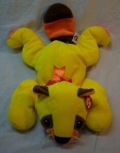 6b647bdc7ac TY Pillow Pals BRIGHT YELLOW RUSTY THE RACCOON 17
