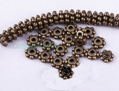 New Tibetan Silver Daisy Flower Spacer Beads Jewelry Findings 4 Colors 1000 PCS
