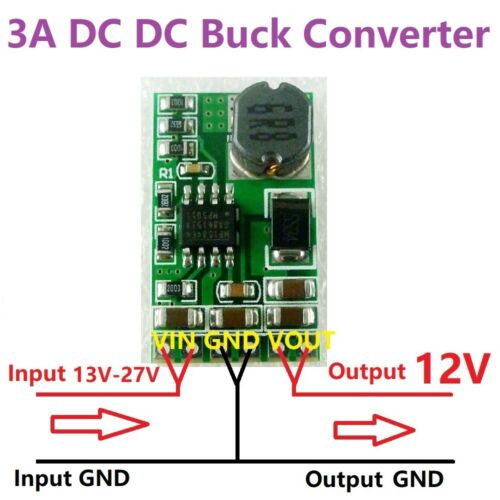 1 PCS 3.5A DC-DCBuck Voltage Regulator 4.5V-27V to 3V 3.3V 3.7V 5V 6V 7.5V 9V 12
