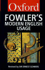 Dictionary of Modern English Usage by H.W. Fowler (Paperback, 1983)