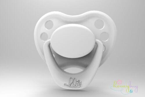 Honeybug MAGNETIC PACIFIER reborn art doll Sweetheart newborn handle SNOW WHITE