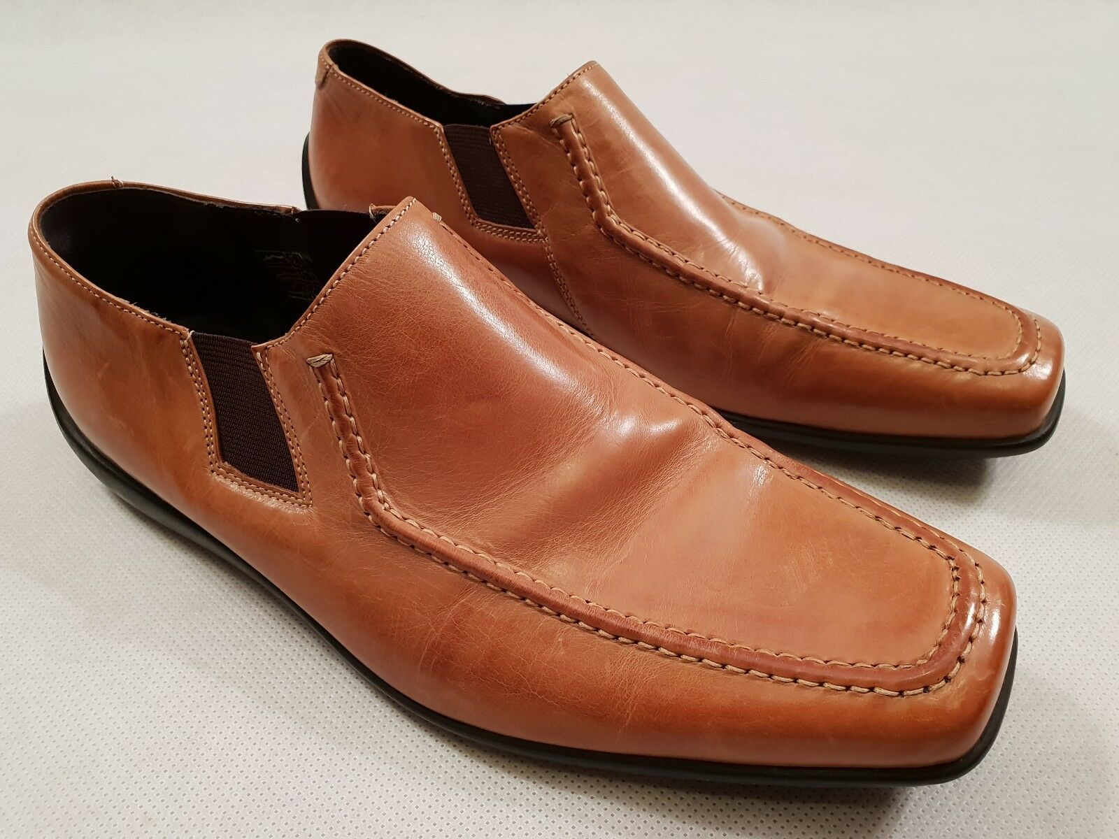 Paul Smith Tan Leather Loafer shoes Slip on shoes EU Size 41 UK Size 7 RRP