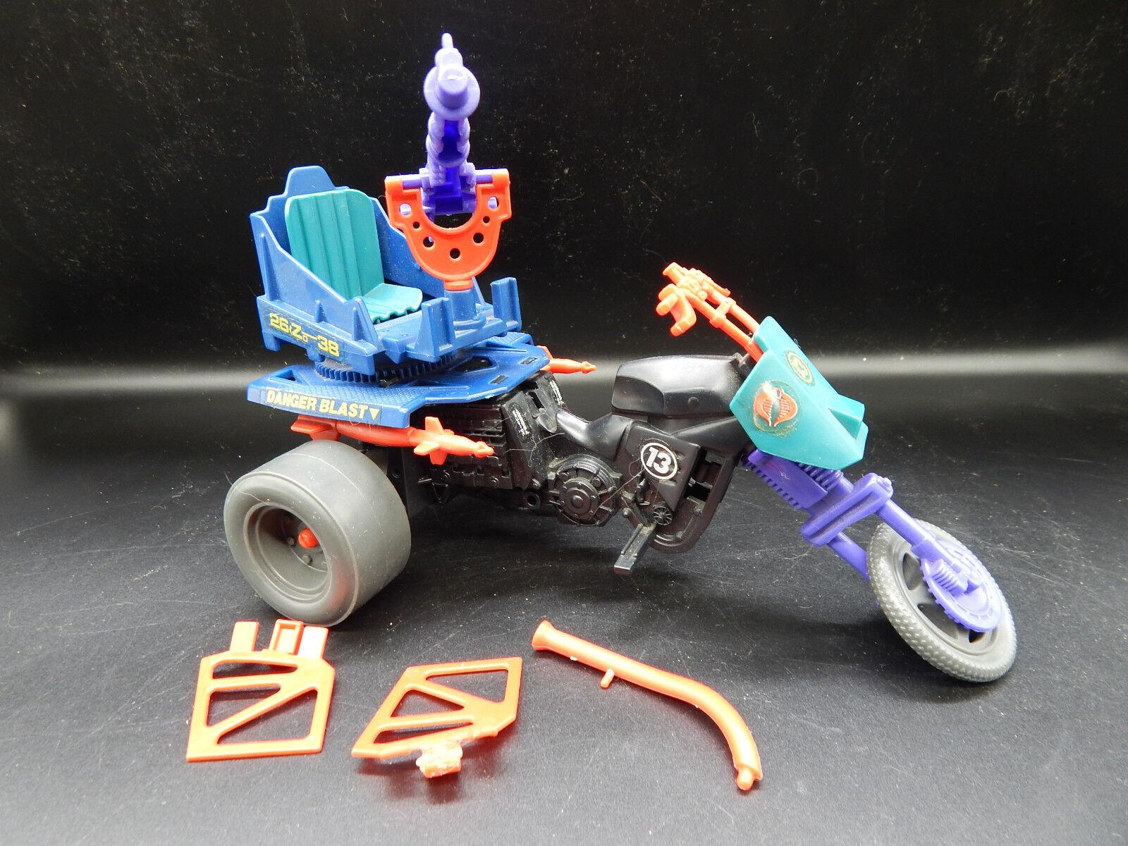 1987 GI Joe enemy vehicle DREADNOK CYCLE vintage 80s toy HASBRO complete