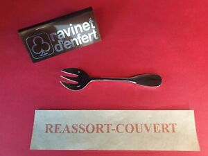 Fork-Oyster-12-cm-Old-Paris-Ravinet-D-Enfert-Beautiful-Condition-Metal-Silver