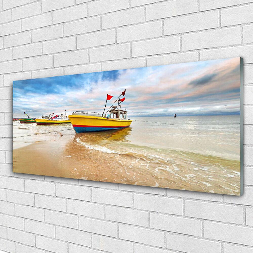 Acrylglasbilder Wandbilder aus Plexiglas® 125x50 Stiefele Strand Meer Landschaft