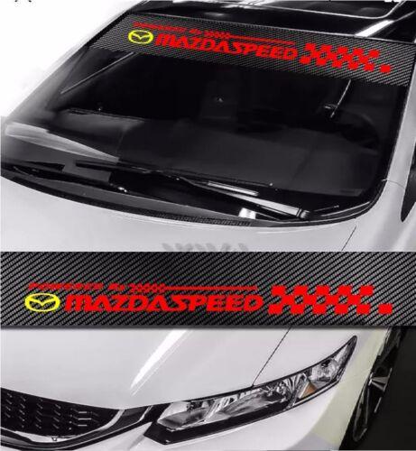 """MAZDASPEED Windshield Carbon Fiber Vinyl Banner Decal Sticker 4 Mazda Speed 51/"""""""