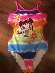 1dc88a411c girls NICKELODEON KAI-LAN 1 PIECE SWIMSUIT rainbow LINED nice! PINK ...