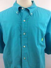 Men's POLO RALPH LAUREN Bright Blue Classic Fit Short Sleeve Shirt Size 3XB