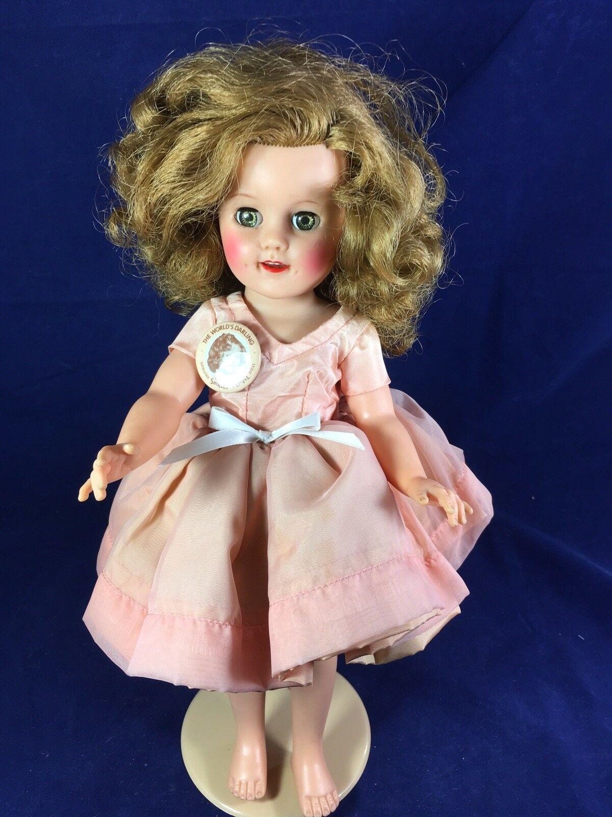 Ideal Shirley Temple Doll w  Collectible Pin 15  1950's