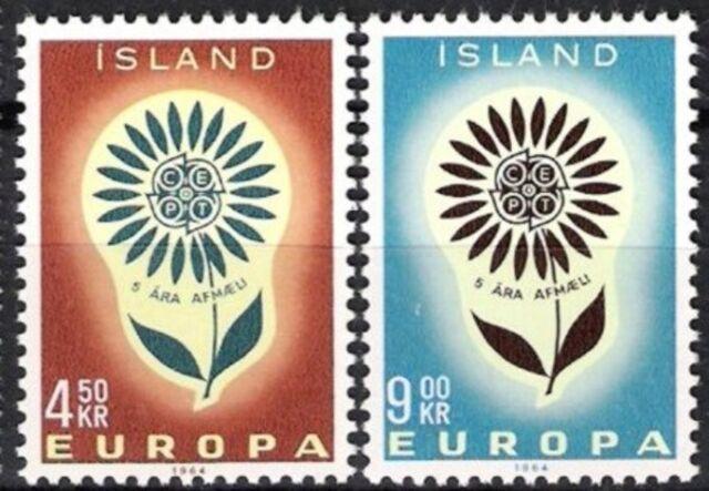 Island Nr.385/86 ** Europa, Cept 1964, postfrisch