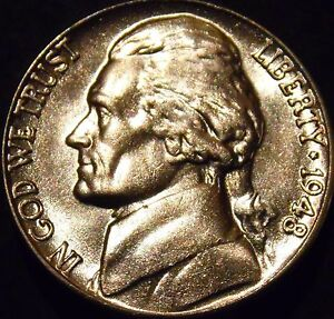 1948-P Jefferson Nickel Choice//Gem BU Uncirculated