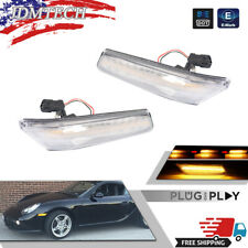 Amber Led Sequential Side Marker Lamps For 05 12 Porsche 997 Cayman Boxster 987