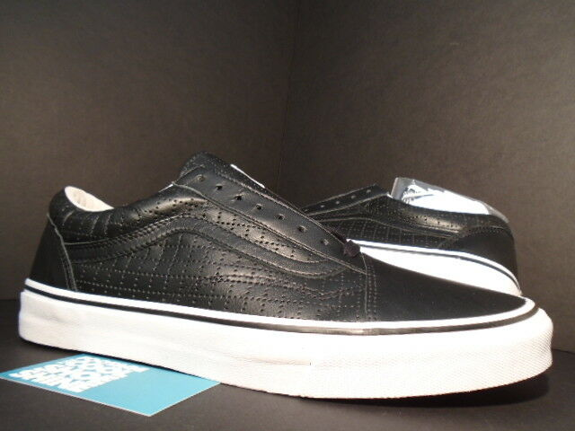 2015 VANS OLD SKOOL SUPREME PERF PERF PERF CHECK nero LEATHER bianca rosso VN-01R1HD8 NEW 10 4846a2
