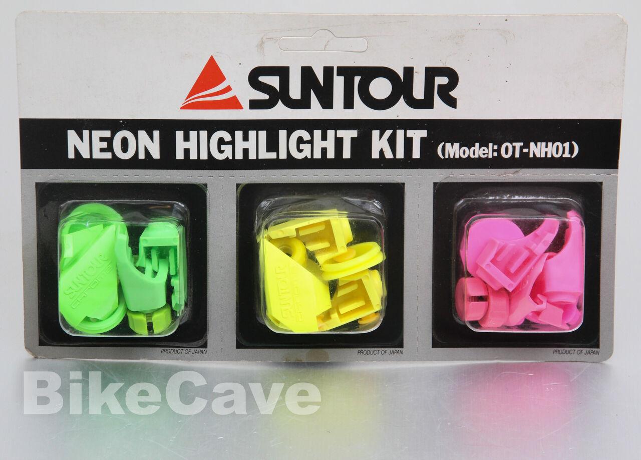 NOS Suntour Neon Highlight Kit for X-1 MTB Group Chroma OT-NH01 Green Pink Yello