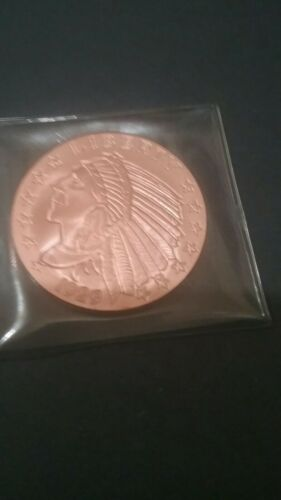 Indian And Eagle 2oz Copper Round