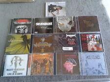 used METAL ROCK HAIR CD LOT 13 black sabbath  ACID BATH SEVENDUST DEATH ANGEL