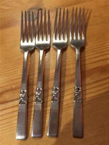 4-x-Vintage-Oneida-Morning-Star-Community-Plate-EPNS-Dinner-Forks