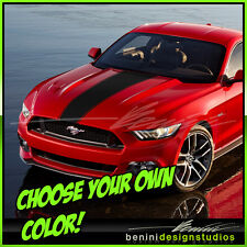 2015 and up Ford Mustang Custom Hood Stripe Decal  GT graphics