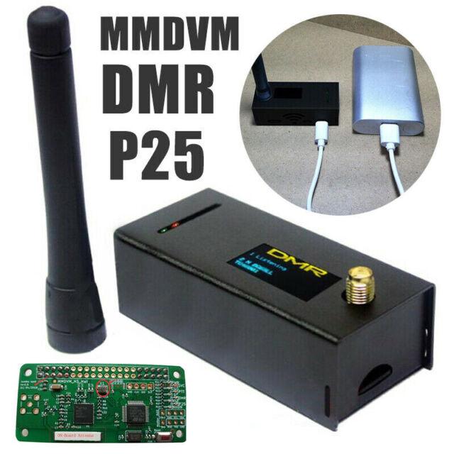 Assembled MMDVM hotspot Support P25 DMR YSF Raspberry pi OLED Antenna Case