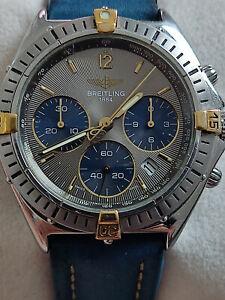 Breitling Sextant Vintage Armbanduhr Uhr Chronomat Chrono B55045 Bicolor 36mm