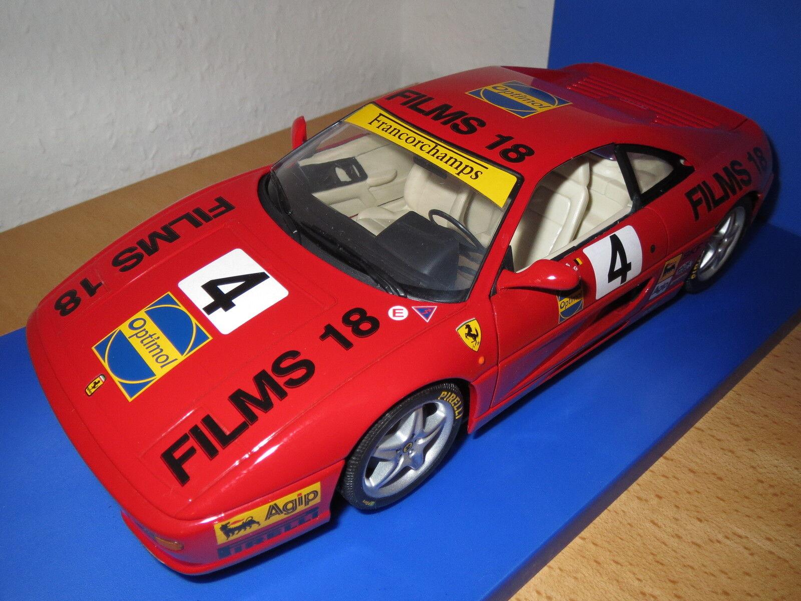 Privé transformation  Ferrari f355 Berlinetta, film 18, Francorchamps race,  4,1 18, base  ut