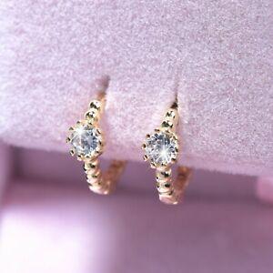 18k-yellow-gold-gp-925-silver-earrings-simulated-diamond-huggies-baby-kids-SMALL