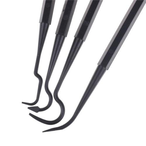 4pcs Black Gun Cleaning Kit Shotgun Rifle Tube Cleaner Hook Brush Picks ML