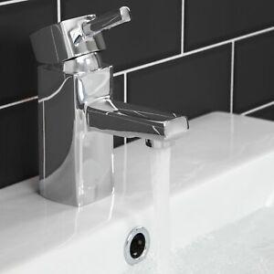 Détails sur Salle de bain carrée monobloc bassin évier mitigeur en Laiton  Levier Unique Chrome Moderne- afficher le titre d\'origine