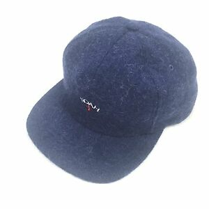 NWT Noah NY Men s Navy Blue Core Logo Embroidered Mohair Wool Hat ... da85f671ee8