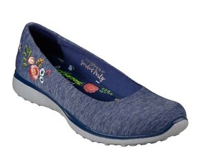 36c45f1f1730 Image is loading Skechers-NEW-Microburst-Botanical-Paradise-navy-floral -ballet-