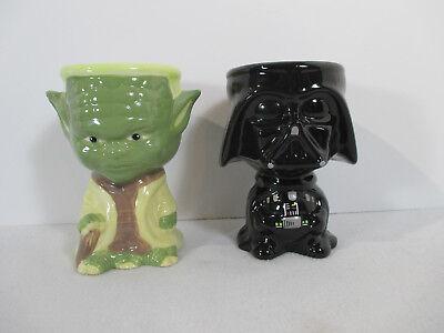 Star Wars Tiki Mugs Cups Yoda Darth Vader Ceramic Set of 2 Galerie Goblet