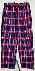 CONCEPTS-MLB-Cleveland-Indians-Blue-Red-Plaid-Flannel-Pants-2XL-Elastic-Waist