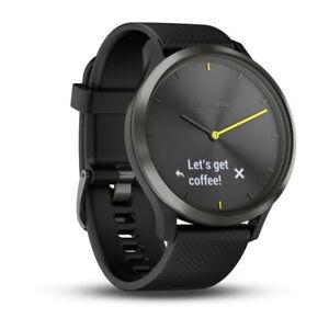 Garmin-Vivomove-HR-Hybrid-Smart-Watch-Heart-Rate-Monitor-Watch-Large-Black