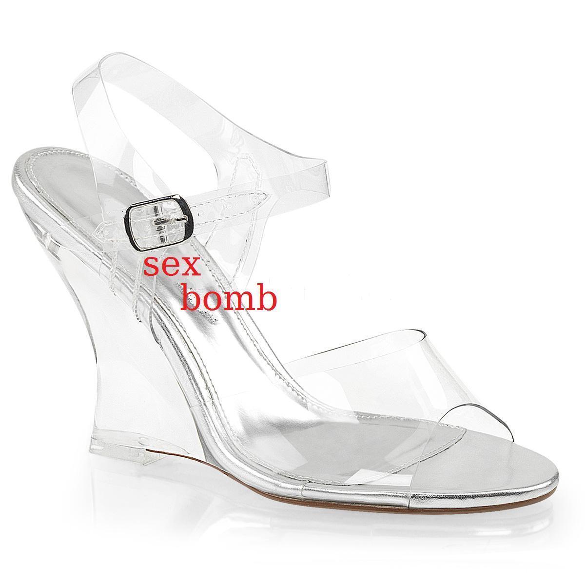 SEXY sandali ZEPPA tacco tacco tacco 10 dal 35 al 42 TRASPARENTE cinturino zapatos GLAMOUR  n ° 1 en línea