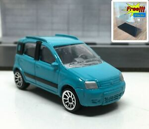 Majorette-Fiat-Panda-4x4-Blue-1-55-286B-Wheel-5U-no-Package-Free-Display-Box