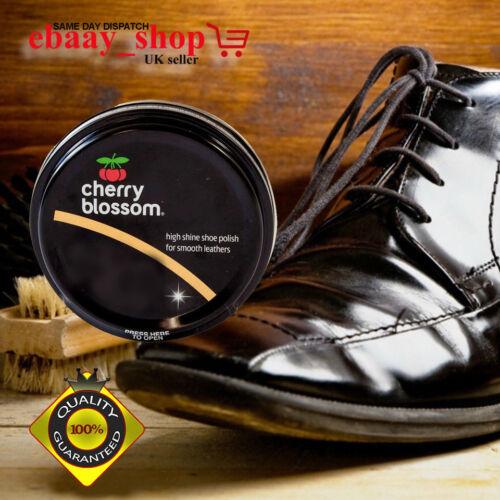 Shine Uk zapatos stock Sin para marrón de Cherry Shoe bronceado botas Black Nuevo cuero lisos Blossom Shine High 0FOfxp